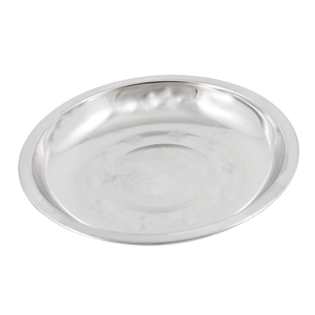 Stainless Steel Dinner Plate - TOOGOO(R) Camping 17.8cm Dia Stainless Steel Tableware Dinner Plate Food Container