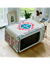 Microwave Oven Cover Folk-Custom Multi-Purpose Cover Towel Nightstand Cover Cloth Electric Oven Dust Cover 31 93cm