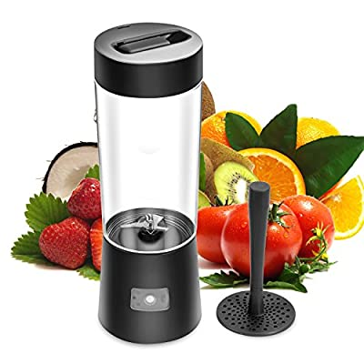 New Arrival! RUNNEPT Beach Mini Portable Juice Blender and Mixer, Juicer Cup, 500ml with 2600mAh Rechargeable LI Battery BPA Free