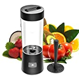 New Arrival! RUNNEPT Beach Mini Portable Juice Blender and Mixer, Juicer Cup, 500ml with 2600mAh Rechargeable LI Battery (Dark Grey)