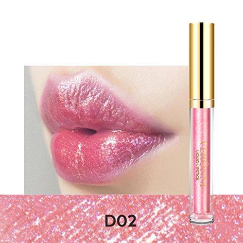 Estee Waterproof Mascara (Victorcn Fashion Lip Lipstick Cosmetics Women Sexy Waterproof Lips Metallic Lip Gloss (B))