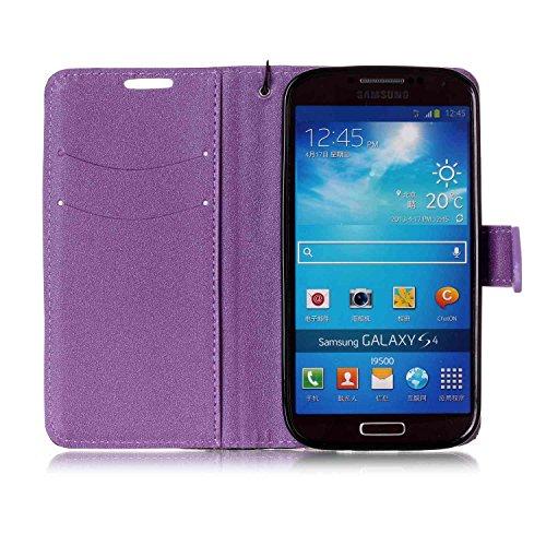 Funda Samsung Galaxy S4 neo, Carcasa Cuero Samsung Galaxy S4, JAWSEU Samsung Galaxy S4 i9500 Tapa Trasera Carcasa Color de Contraste Diseño Empalme ...