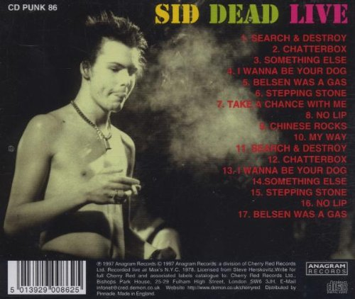 Sid Dead Live by Anagram Punk UK