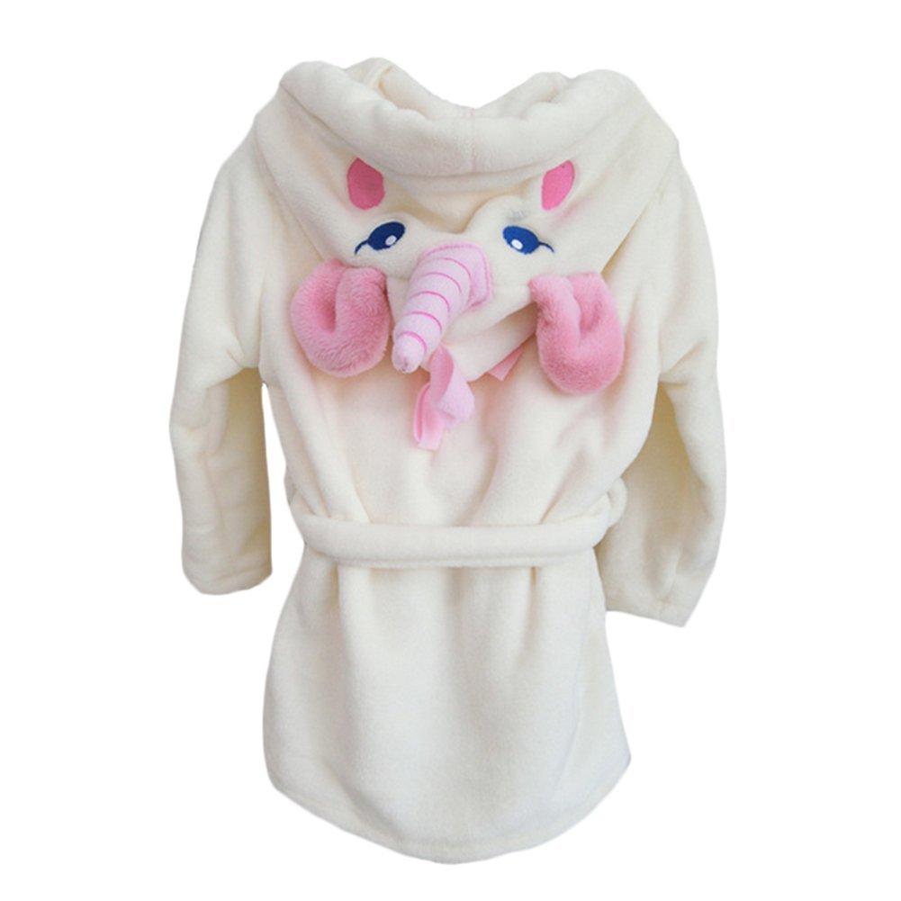 Y/&L Bambini Bambino Caldo Accappatoio Camicia Da Notte Del Fumetto Con Cappuccio Da Notte Vestaglia Unicorno