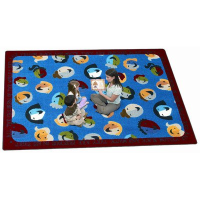 Joy Carpets 1491C Children of the World 5 ft.4 in. x 7 ft.8 in. 100 Pct. STAINMASTER Nylon Machine Tufted- Cut Pile Educational- Faith Based Rug by Joy Carpets