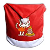 YHOLY_1 Funny Cat With A Mole Cute Animals Christmas Dining Chair Back Cover Slipcovers Decoration