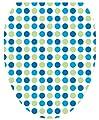 Toilet Tattoos TT-1401-O Dot-To-Dot Blues Decorative Applique for Toilet Lid, Elongated