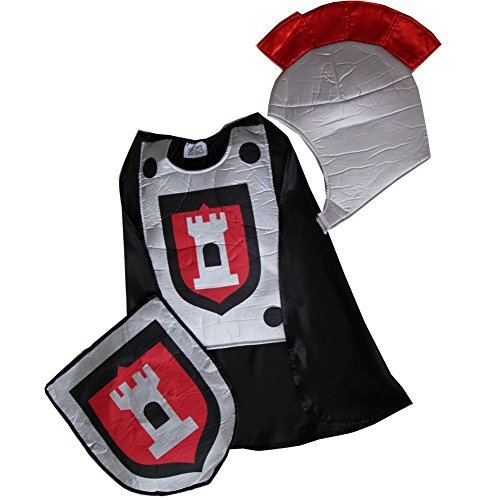 Knight Smock Cape, Shield & Helmet Set (Boys Costume Trunk)