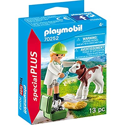 Playmobil Vet with Calf 70252 Plus Figure Set: Toys & Games