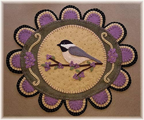 (My Little Chickadee Penny Rug Kit Pre Cut and Pre Washed Applique Kit Bird Pattern)