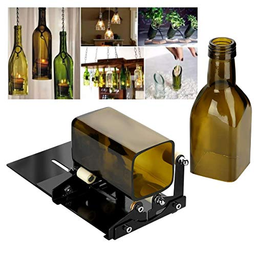 Goblet Place Card Holders - Yuehuam Glass Bottle Cutter Wine Bottles and Beer Bottles Cutter Adjustable Wine Beer Cutter Glass Bottle DIY Cutting Machine for Creative Round Oval Bottle Lamps Candle Holders