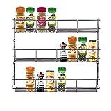 Yontree 3 Tiers Steel Spice Rack Herb Jar Holder Cabinet Shelf Storage Wall Organization