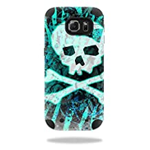 MightySkins Protective Vinyl Skin Decal for Mophie Juice Pack Samsung Galaxy S6 wrap cover sticker skins Zebra Skull