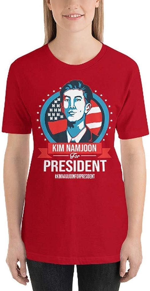 Short-Sleeve Unisex T-Shirt K-Pop Kim Namjoon for President BTS Army