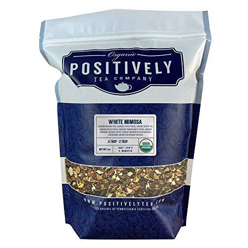 (Positively Tea Company, Organic White Mimosa, White Tea, Loose Leaf, USDA Organic, 1 Pound)