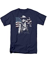 John Wayne The Duke American Idol Icon Adult Mens T-Shirt Navy Blue