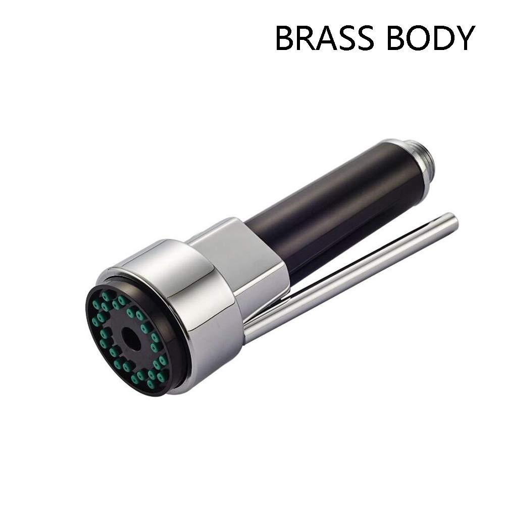 Brass KitchenSprayHead- Pull Down Kitchen Faucet Head Replacement Part, G1/2 Kitchen Sink Spray Nozzle, Kitchen Tap Sprayer Spout by G-Tree