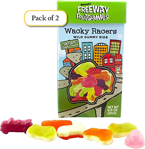 Gustaf's Freeway Fruit Gummies, Wacky Racers, 9.5oz Box (Pack of 2)