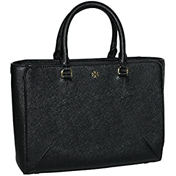 c3327e75bd96 Tory Burch Women s Emerson Small Zip Tote Leather Shoulder Handbag 50707  (Black)