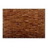 casa pura Luxury Bamboo Bath Mat, Chestnut Brown - 60 x 90 cm (2ft x 3ft) | Bathroom & Sauna Mat