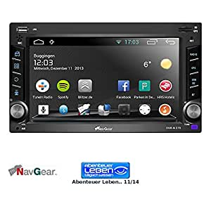 """NavGear PX-8345-906 - Navegador con radio para coche (2-DIN, 6.2"""", pantalla táctil, GPS, WiFi, sintonizador FM/AM, Bluetooth, Android 4.0) de"""