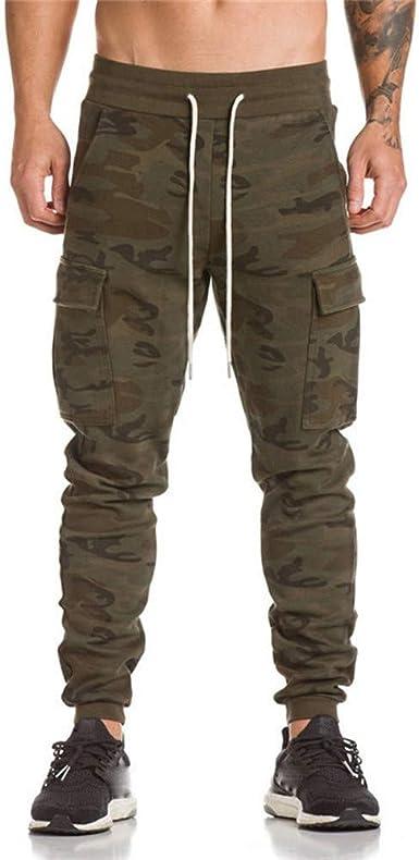 JiaMeng Hombre Pantalón Deportivo Harem Jogger Militar Camuflaje ...