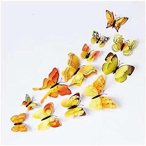 Doyeemei 3D papillon 12pcs autocollants faisant autocollants Stickers muraux artisanat papillons