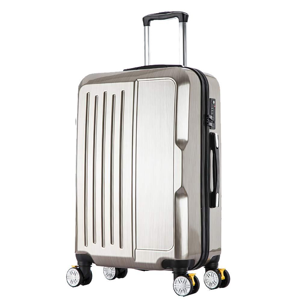トローリー荷物スーツケースビジネストロリーケース搭乗荷物ユニバーサルホイール男性24インチの通関のロックパスワードボックス B07KTYPTYM  gray