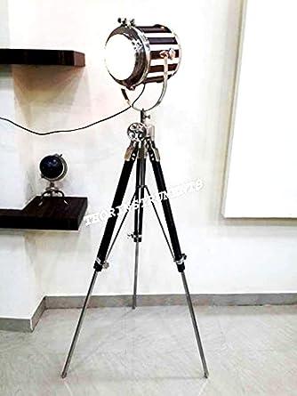 Cool Vintage Floor Lamp Spotlight Designer Nautical Studio Tripod Floor Wiring 101 Tzicihahutechinfo