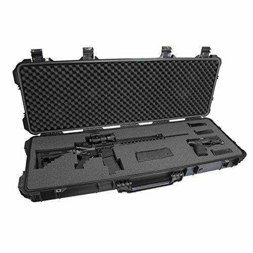 Elkton Outdoors Hard Gun Case Wheels: Fully Customizable Hard Rifle Case: Holds Assault Rifles, Long Guns, Magazines & Pistols: Crush Resistant & Waterproof!