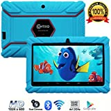 "Contixo Kids Tablet K2 | 7"" Display Android 6.0 Bluetooth WiFi Camera Parental Control for Children Infant Toddlers w/ Free Tablet Case (Sky Blue)"