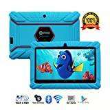 Contixo 7'' Kids Tablet K2 | Wi-Fi Camera Apps Games for Children Infant Toddlers Kids Parental Control w/Kid-Proof Protective Case (Light Blue)