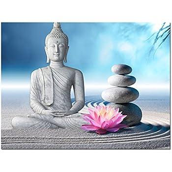 Pleasing Amazon Com Buddha Canvas Wall Art Wood Buddha Statue Canvas Download Free Architecture Designs Boapuretrmadebymaigaardcom