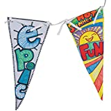 S&S Worldwide Make Your Own Banner Craft Kit (makes 12)