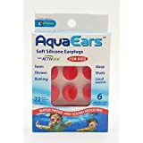 AquaEars Soft Silicone Earplugs for Swimming, Sleeping, Bathing and Showering (Child, 6 Pair)