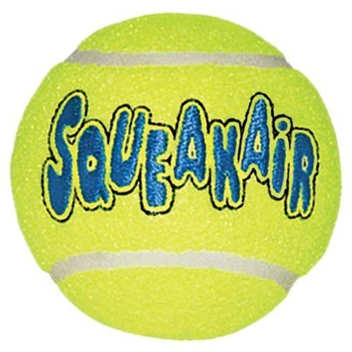 KONG Air Dog Squeak air Tennis Ball Dog Toy, Large, Yellow, 6 Count by KONG (Image #1)