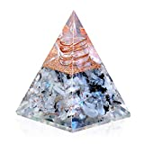 New Inspirational Orgonite Pyramid for Success | Rainbow Moonstone Orgone Pyramid for Anti-stress - Calmness - Growth - Strength - Healing Crystal Gemstone Pyramid