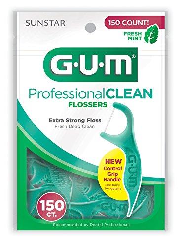 (GUM Professional Clean Flossers, Fresh Mint, 150 Count)