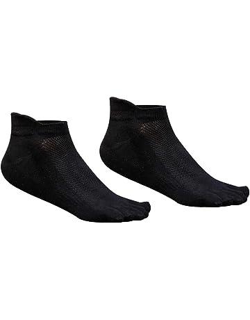 FENICAL Calcetines del Dedo del pie 5 Hombres de los Dedos de algodón de Corte bajo