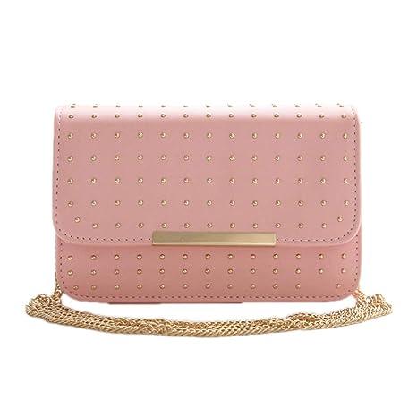32575125888a Amazon.com: Cujubag Rivet Women Flap Bag Chain Strap Sequined Bags ...