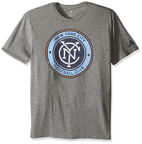(MLS New York City FC Adult Men Vintage Too Tri-Blend S/Tee,Large,Gray)