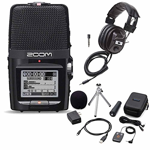 Zoom H2 Portable Recorder - Zoom H2n Handy Handheld Digital Recorder with APH-2n Accessory Pack & Headphones