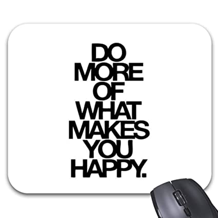 Amazon.com : Happy, Quotes, Sayings, Cute, Happiness Mouse ...