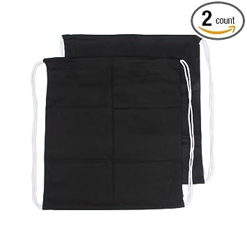 Amazon.com: Augbunny 100% Cotton Canvas Drawstring Backpack Gym ...