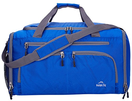 Venture Pal Packable Sports Gym Bag with Wet Pocket & Shoes Compartment Travel Duffel Bag for Men and Women-Royal Blue by Venture Pal (Image #1)