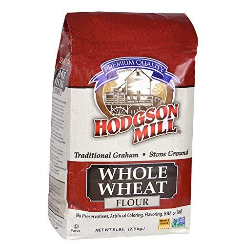 Hodgson Mill Whole Wheat Flour, 5 Pound Bag (Pack of 6)