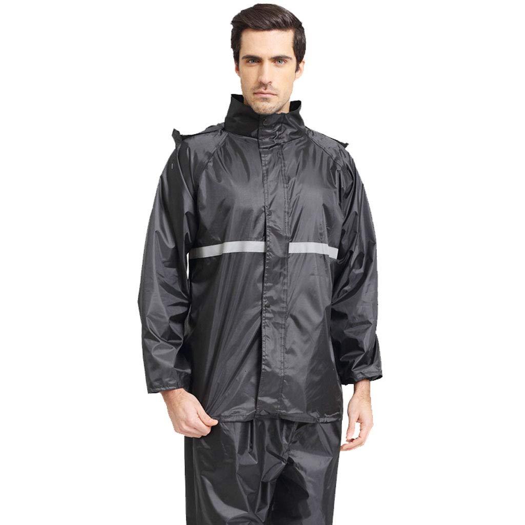noir 2XL VêteHommests de pluie, vêteHommests de sport Imperméable pour hommes et femmes Split VêteHommests de pluie Manteau imperméable Veste pour adultes avec un pantalon de costume pour vêteHommests de pluie moto