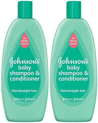 Non plus enchevêtrements Shampooing & conditionneur de Johnson - cheveux raides - 18 oz - 2 pk