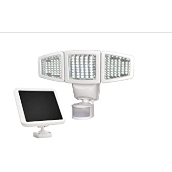 ... Head Solar Motion Light, 1000 Lumen Super Bright, 30 Detection Distance, 180 Degree Range, Fully Weather Resistant, Garage Mount, Home or Shed Exterior