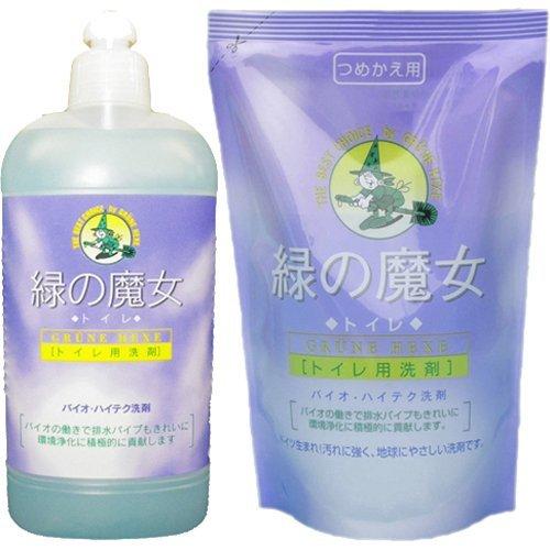 【セット販売】緑の魔女トイレ用洗剤 本体420ml+詰替360ml